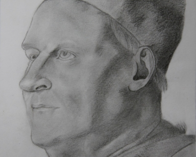 Portrait d'homme en dessin traditionnel