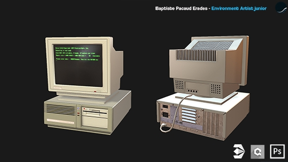 Commodore PC 20-III Low Poly